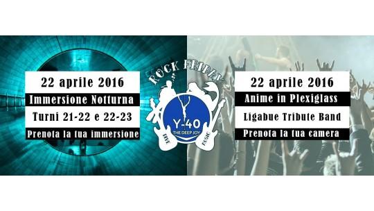 Y-40 Rock Friday ANIME IN PLEXIGLASS, Ligabue Tribute Band