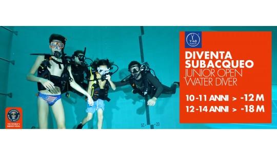 Y-40® The Deep Joy La piscina più profonda del mondo Corso Junior Open Water. Abano Montegrotto Terme Padova Venezia Italia